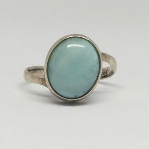 Larimar Sterling Silver Bypass Ring